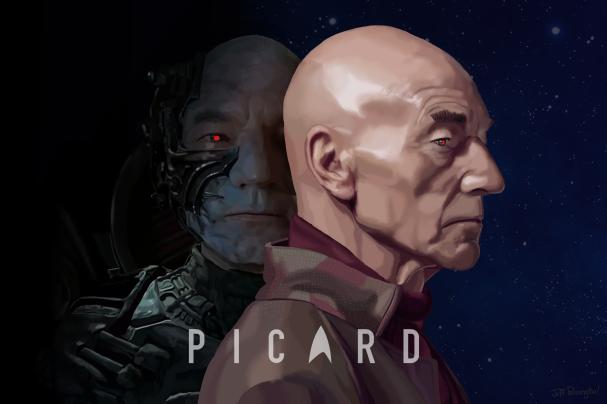 Captain Picard & Locutus, Star Trek